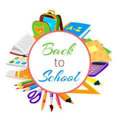 Back to school circle sale banner for september vector