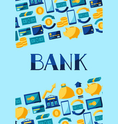 banking background with money icons vector image
