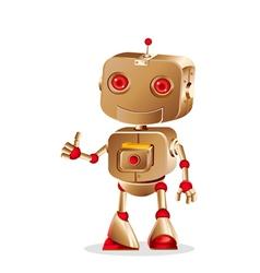 Bronze robot vector