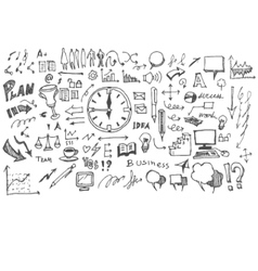 Business doodles sketch vector