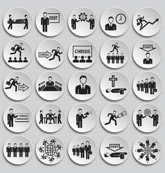 business life set on plates background vector image