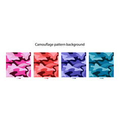 camouflage pattern background design vector image