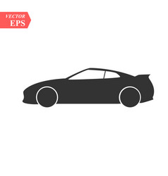 car icon isolated simple front car logo vector image