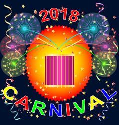 carnival holiday festival banner vector image