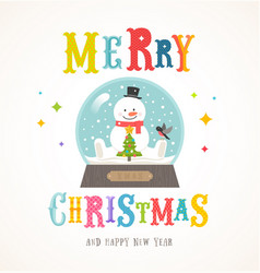 cartoon flat style colorful christmas design vector image