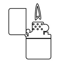cigarette lighter black color icon vector image