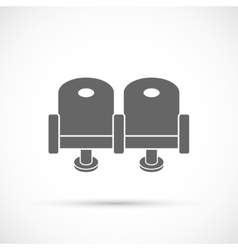 Cinema chair icon vector image