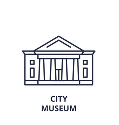 city museum line icon concept city museum vector image