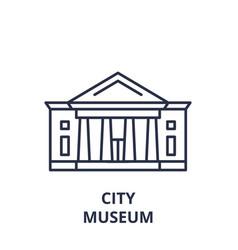 city museum line icon concept city museum vector image