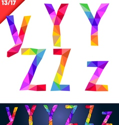 colorful font patches vector image