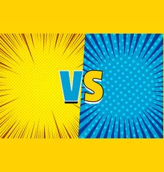 Comic versus duel concept vector