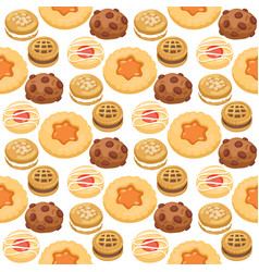 cookie cakes top view sweet homemade breakfast vector image vector image