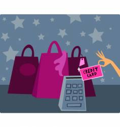 credit card shopping vector image