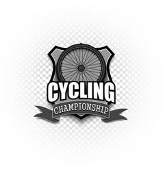 cycling logo template design vector image