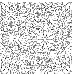Doodles mandalas seamless pattern background vector