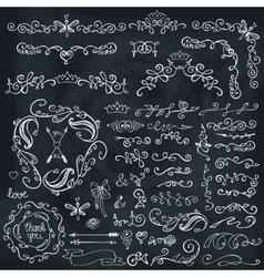 Doodles sketched vector
