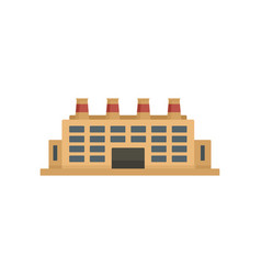Energy refinery factory icon flat style vector
