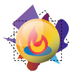 feedburner logo and multicolor shapes on a white vector image