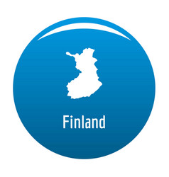 Finland map in black simple vector