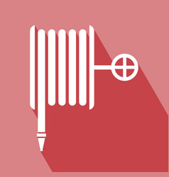 fire hose reel icon vector image