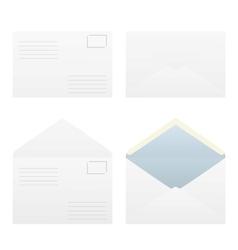 Four types of postal envelopes vector image