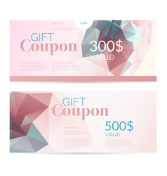 Gift voucher and original flyer for discount low vector