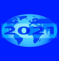 Globe 2021 design vector