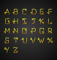 Gold Alphabet Set vector image