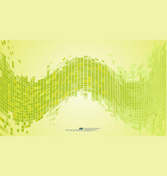 green abstract background mosaic pixels vector image