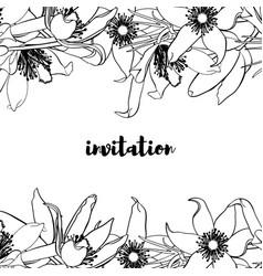 hand drawn vintage floral card vector image