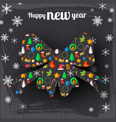 happy new year festive poster vector image vector image