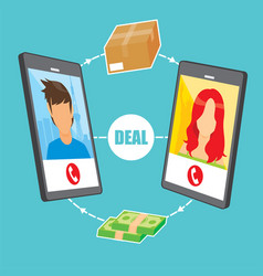 image about buying and selling online vector image