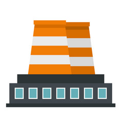 Industrial building icon isolated vector