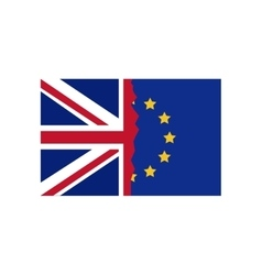 Isolated brexit flag design vector image