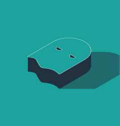 Isometric executioner mask icon isolated on green vector