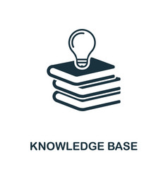 knowledge base icon symbol creative sign vector image