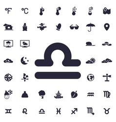 Libra zodiak icon vector