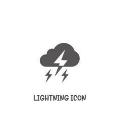 Lightning icon simple flat style vector