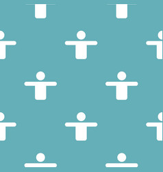 man pattern seamless blue vector image