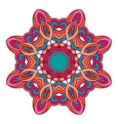 Mandala ethnic round ornament design vector