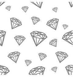 Modern seamless pattern with diamonds black vector