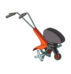 mowers for cutting grass and lawn agricultural vector image