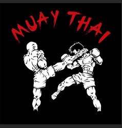 Muay-thai design vector