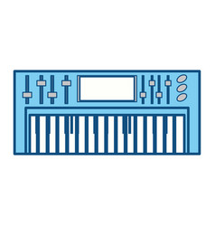 musical keyboard technology vector image