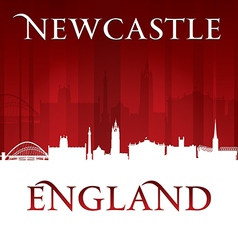 Newcastle England city skyline silhouette vector