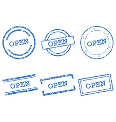 Open stamps vector image