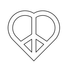 Peace and love symbol vector