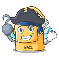 Pirate bag sack fill in cartoon mail vector