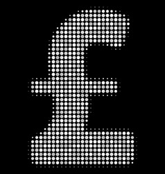 pound sterling halftone icon vector image