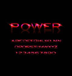 Power style font vector
